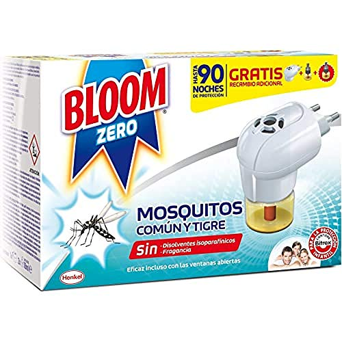 Bloom Zero Insecticida Electrico Líquido contra mosquitos común y tigre - Pack...