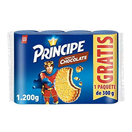 Príncipe Original - Galletas Rellenas de Chocolate con Leche - 4 Paquetes de 300 g