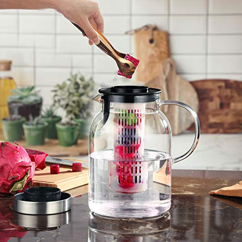 Glass Pitcher for Fruit Infuser Water