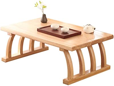 Coffee Table for Living Room Furniture,Rectangle Sofa Side End Table,with Solid Wood Legs,Multiple Sizes (Color : Wood Color, Size : 70 * 45 * 30cm)