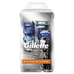 Idea Regalo - Gillette Fusion ProGlide Styler Rasoio Regolabarba 3 in 1, Confezione da 1 Lametta + 3 Regolatori di Lunghezza Intercambiabili