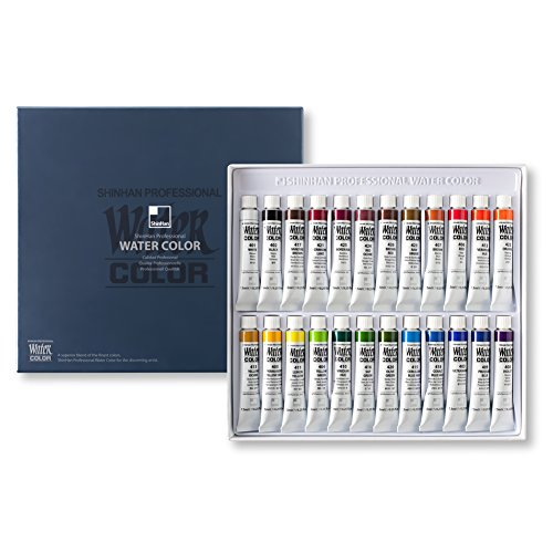 SHINHAN Professional Watercolor Paint 7.5ml Tubes 24 Color Set