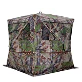 Barronett BL350BW Blockout 350 Ground Hunting Blind, 3 Person Pop Up Portable, Backwoods Camo