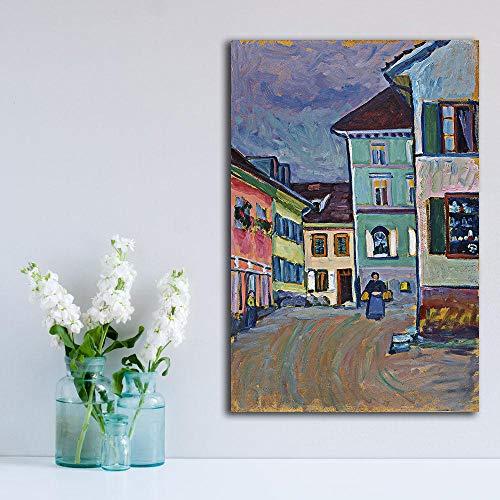 WJY Murnau Top Dekoration Farben Wohnkultur auf Leinwand Moderne Wandkunst Leinwand Druck Poster Leinwand Malerei 50cm x75cm Kein Rahmen