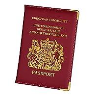 パスポートホルダー レザーアメリカ合衆国ディプロマイオマパスポートカバートラベルドキュメント保護ケースIDカードホルダー 財布 (Color : UK)