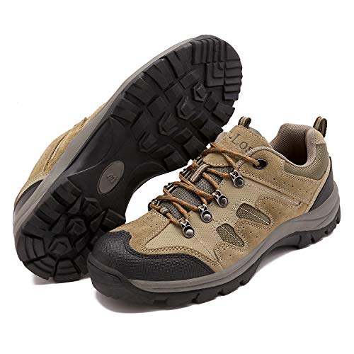 Men's Hiking Shoes Waterproof Outdoor Breathable Non-Slip High-Traction Grip Lightweight Backpacking Climbing Trekking Trails Walking Shoe Vent Series