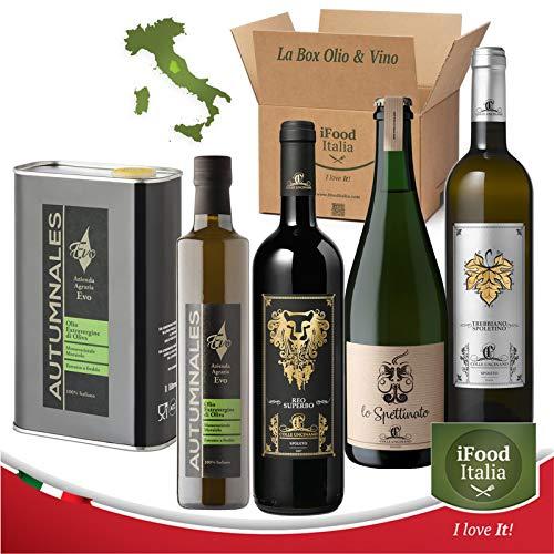 iFoodBox Olio & Vino Umbria idea regalo aziendale assortimento evento degustazione iFood Italia Made in Italy