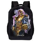 MARVEL COMICS RETRO LOGO BACKPACK - MARVEL BLACK RETRO LOGO 18 INCH AIR MESH PADDED BAG (Thanos Appears)