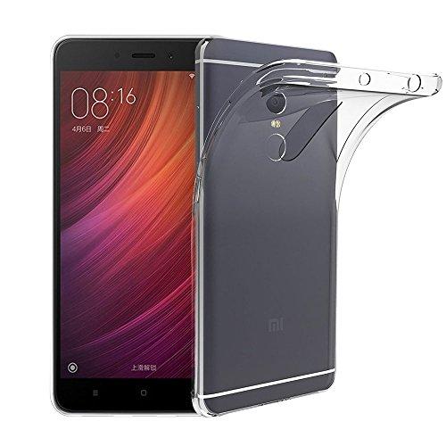 Funda Carcasa Gel Transparente para XIAOMI REDMI Note 4, Ultra Fina 0,33mm, Silicona TPU de Alta Resistencia y Flexibilidad