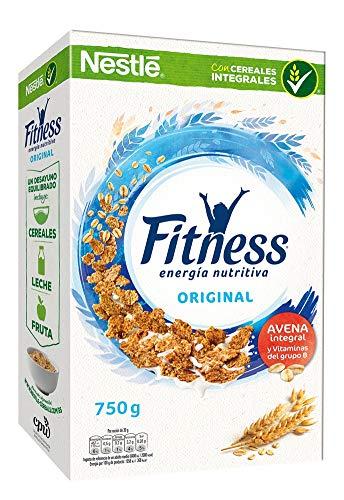 Cereales Nestlé Fitness Original - Copos de trigo integral, arroz y avena...
