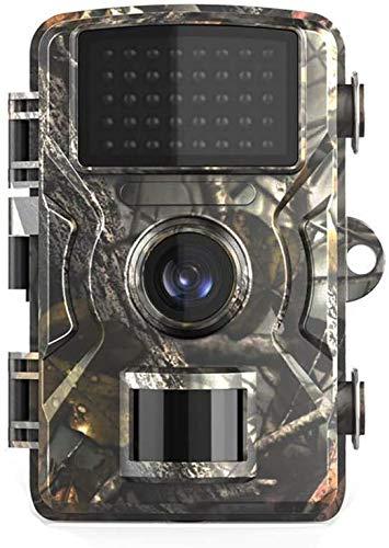 YUKM Mini Cámara De Sendero, 12MP 1080P Impermeable De Acuerdo con La Cámara De Visión Nocturna De La Cámara De Juegos IP66 para La Observación De Animales Salvajes Y Vigilancia En El Hogar