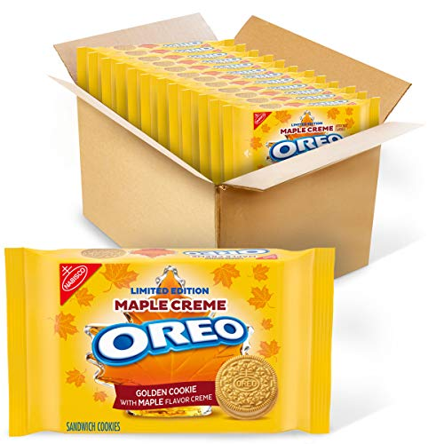 OREO Golden Maple Creme Sandwich Cookies, 12- 12.2 oz Packs