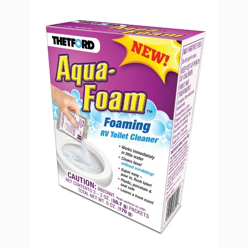 Thetford Aqua-Foam-Porcelain and Plastic Toilet Cleaner-3x2 oz Pack 96009, 3 Pack