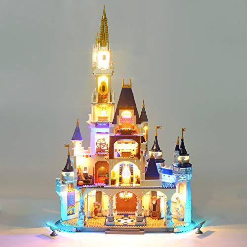LODIY LED Light Kit Set for Lego 71040 Disney Castle (Not Include Lego Set)