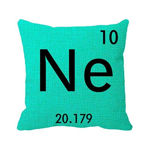 Pillowcase Create Your Own Periodic Table Element Symbol Print Pillow Cover 20in