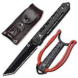 NedFoss Tanto Klappmesser Einhandmesser mit Schleuder Outdoor Messer EDC Messer Folder, 8,5 cm Klingenlänge (Schwarz)