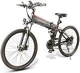 Bicicleta Eléctrica Plegable 350W/500W 26 Pulgadas 32km/h para Adultos de Aluminio Bicicletas de Montaña/Carretera/Ciudad Batería Removible de 48V 10AH Shimano 21 Velocidades [EU Stock]