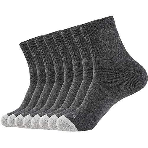 Men's Athletic Ankle Socks 8 Pairs Thick Running Socks Men&Women