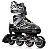 KOVEBBLE Inline Skates for Kids and Adults, Adjustable Blades Roller...