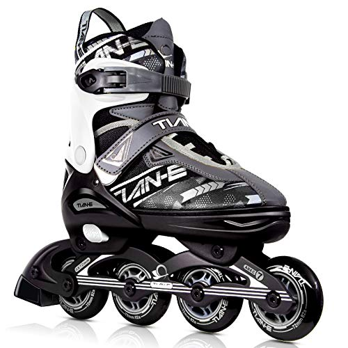 KOVEBBLE Inline Skates for Kids and Adults, Adjustable Blades Roller Skates for Girls, Boys and Teens, Roller Shoes for Women and Men (Color B, L)