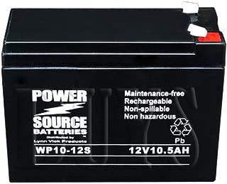 WP10-12S Sealed AGM Slim 12 volt 10.5 ah, 10 ah Power Source Battery replaces 12CE10, DMH12-10, D12100S, 13447, 134471, 6-FM-10S, GS12V10Ah, FP12100A, GPS10-12S, 6-DFM-10A, HZS12-10, LP12-10H, DJW12-10H, EV10-12S, NB12-10, PK12V10A, PS10-12S, RT12100S, CP12100S