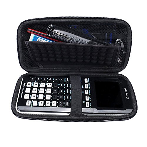 For Graphing Calculator Texas Instruments TI-84 / Plus CE 83 85 Hard Carrying Case Travel Bag Protective Pouch Box -Extra Room for Pen and Accessories(Black) Photo #7