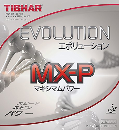 Best Prices! TIBHAR Evolution MX-P 2.1-2.2 Table Tennis Rubber Ping Pong (Red, 2.1-2.2)