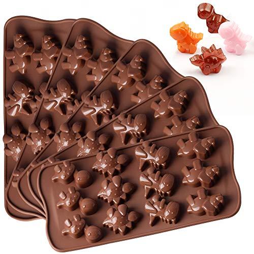 WENTS Silikon Backform 5PCS Mini silikon Dinosaurier Form Kuchen modul, schokoladenkuchen Brot gelee süßigkeiten Dekoration backform, antihaft elastische silikon DIY Form