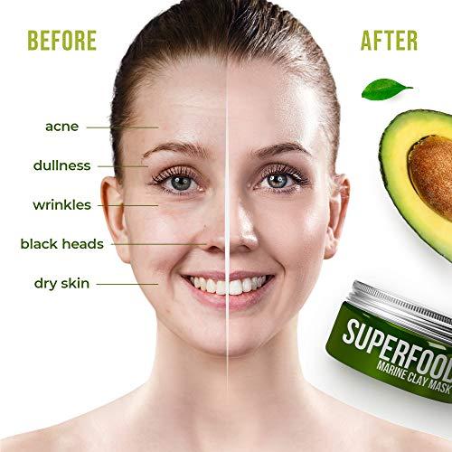 100% Vegan Dead Sea Mud Mask with Avocado