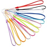 7-inch Short Colorful Wrist Lanyard Strap Bulk for USB Flash Thumb Drive, Key, Keychain, Name tag (12 Assorted Colors)