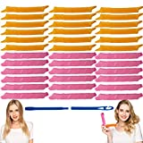 Hair Curlers Rollers - EQARD Spiral Curls Styling Heatless Hair Curlers, 36 Magic Hair Rollers with 1 Styling Hooks,No Heat DIY Hair Curlers for Most Hair Condition, Can Do 30cm/11.81' Long Curly Hair