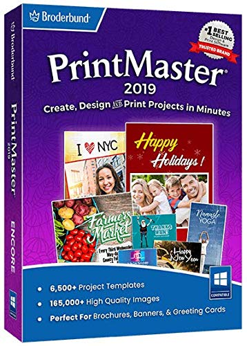 Printmaster 2019 – Design Software for At Home Print Projects [PC Download]