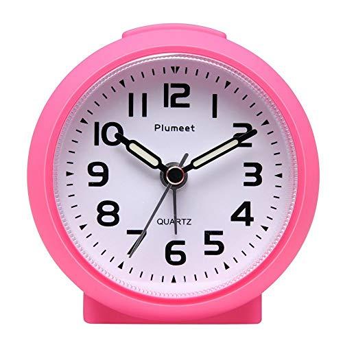 Plumeet Pequeño Reloj, Ticking Reloj Despertador de Viaje c