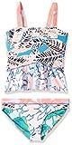 Maaji Girls' Little Ruffle Trim Tankini Swimsuit Set, Waterscape Love Blue, 2