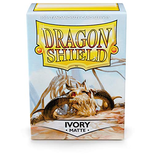 Dragon Shield Fundas para Barajas, Modelo 11017; Marfil Mate, 100 Fundas