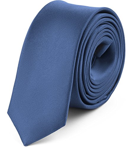 Ladeheid Herren Schmale Krawatte SP-5 (150cm x 5cm, Jeans)