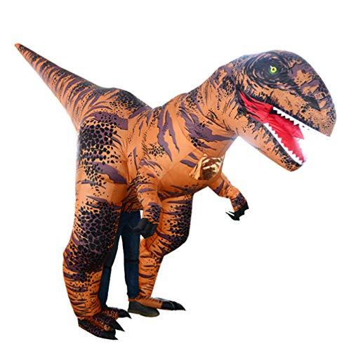 Amosfun Disfraz de dinosaurio de tela inflable para adultos