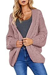 Features:wide long sleeve,ribbed hem,gorgeous colors,relaxed fit Casual Open Front Knit Sweater Cardigans for Women Juniors,Stay cozy and super warm in this slouchy cardigan on chilly winter Pair nicely with skinny jeans,leggings,dresses,boots or sne...