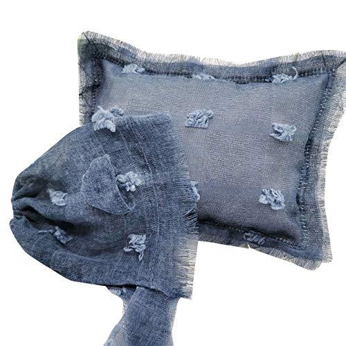 DERCLIVE Juego de accesorios para fotografía recién nacida para bebés y bebés, almohada y sombrero para niños de 0 a 2 meses, 18 cm x 25 cm