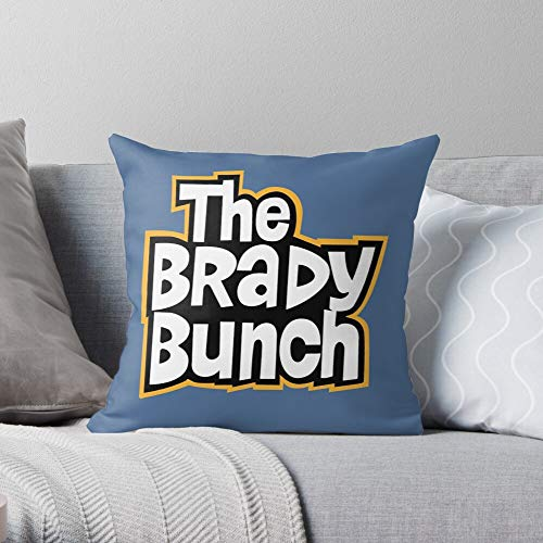 Eystone Bunch Brady Tv 70S Sitcom Carol Mike - Modern Decorative & LightweightSoft Cotton Polyester Throw Pillow Cases for Bedroom/Living Room/Sofa Chair & Car