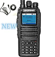 Baofeng DM-1701 Dual Band Tier I & II DMR Analog Radio 136-174MHz & 400-470MHz, Up to 3000 Channels, Color Display with Pr...