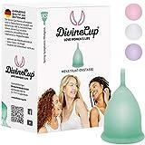 DIVINE CUP copa menstrual tamaño XS, extra pequeña - Clínicamente probada, nota MUY BIEN - 100 % Made in Germany - Verde menta, disponible en cuatro colores - Silicona médica suave y reutilizable