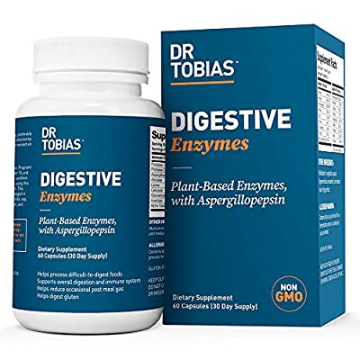 Dr. Tobias Super Digestive Enzymes, Plant-Based, Non-GMO