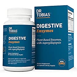 in budget affordable Dr. Tobias Digestive Enzymes – 18 Plant Enzymes That Help Digestion – GMO Free (60 Capsules…