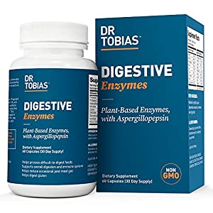 Formulated with 18 plant-based enzymes to help you digest protein, sugar, fiber, lactose, fat, gluten and more. Digestive enzymes are proteins that break down food into nutrients that your body absorbs for energy, growth, cell repair and more. Each e...