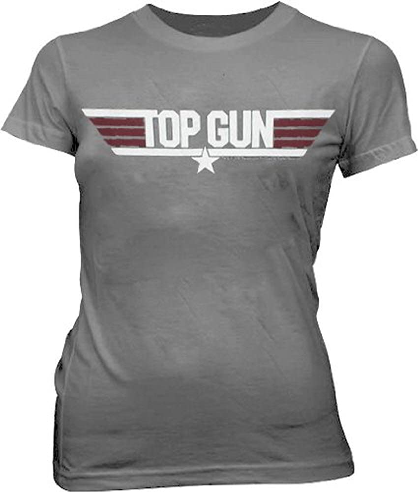 Top Gun - Camiseta - Mujer gris X-Large: Amazon.es: Ropa y ...