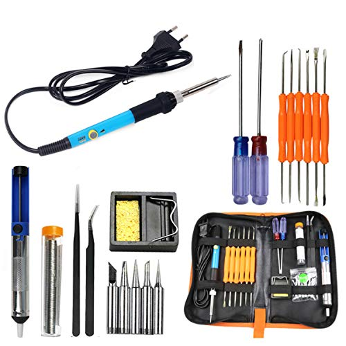 ILS – 60 W 110 V/220 V eléctrico soldar kit de herramientas...