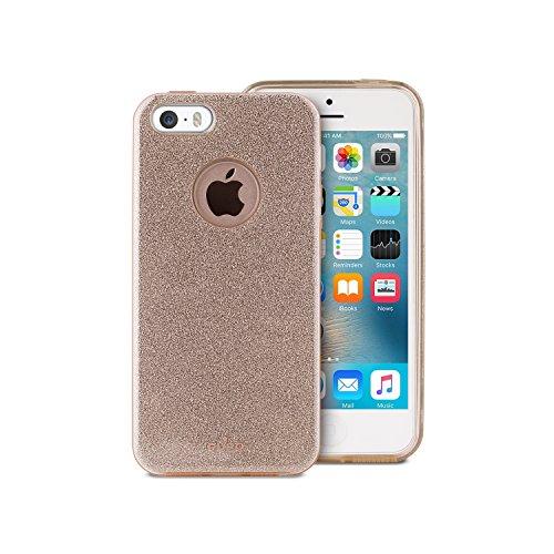 PURO Cover Shine Custodia per iPhone 5/5S/Se, Oro