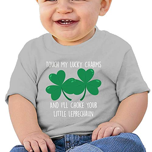 Pmguerxbfhyd Baby Girl Kids Charms and I'll Choke Your Little Leprechaun T Shirt