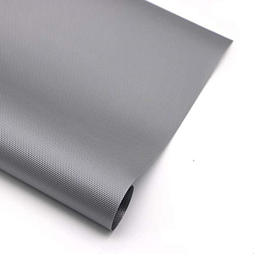 Hersvin 60cmx500cm Plastico Protector para Cocina Cajones, Alfombras Antideslizante Non Adhesivo para Nevera Mueble Fregadero Estante Organizador Cubiertos EVA Cubre Encimera(Gris Diamante)